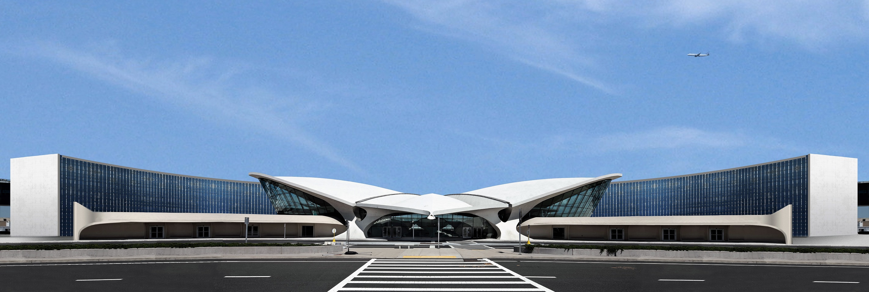 Maquete do novo TWA Hotel at JFK