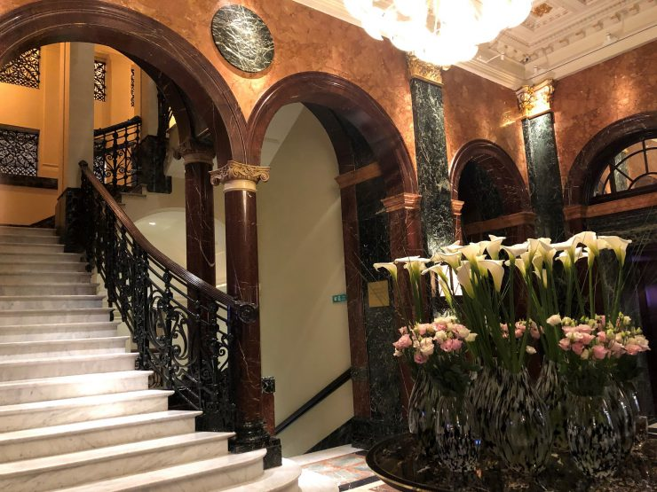 Hall dos elevadores do Mandarin Oriental Hyde Park London